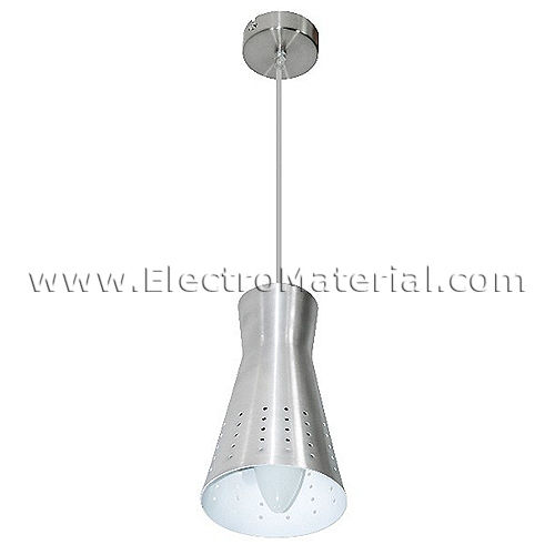 Pendant lamp in Satin Nickel decorated with E14 socket