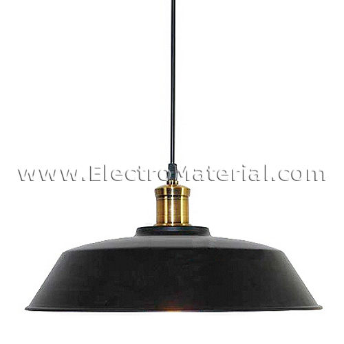 Suspended base lamp in Black with E27 socket
