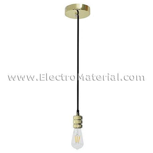 Pendant lamp in Gold with E27 socket
