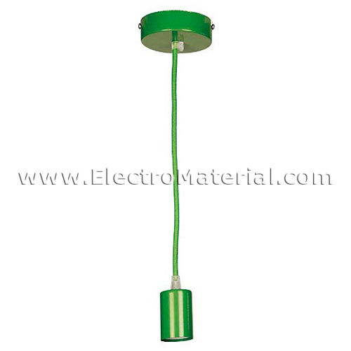 Pendant lamp in Green with E27 socket