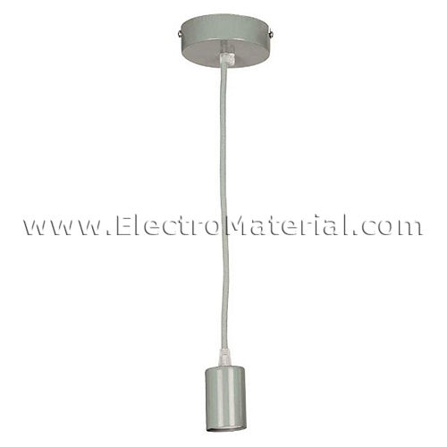 Pendant lamp in Gray with E27 socket