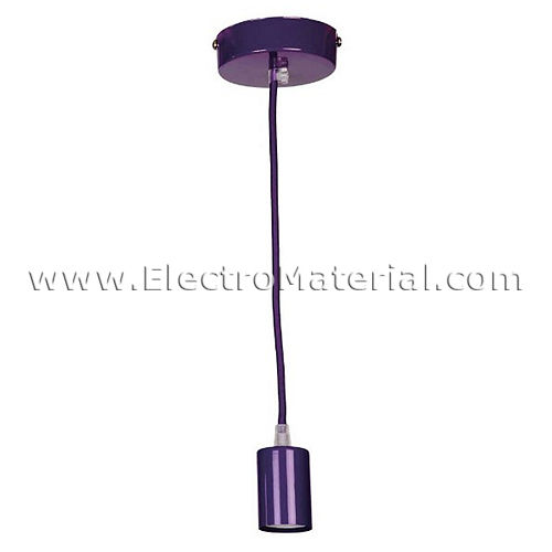 Pendant lamp in Purple with E27 socket