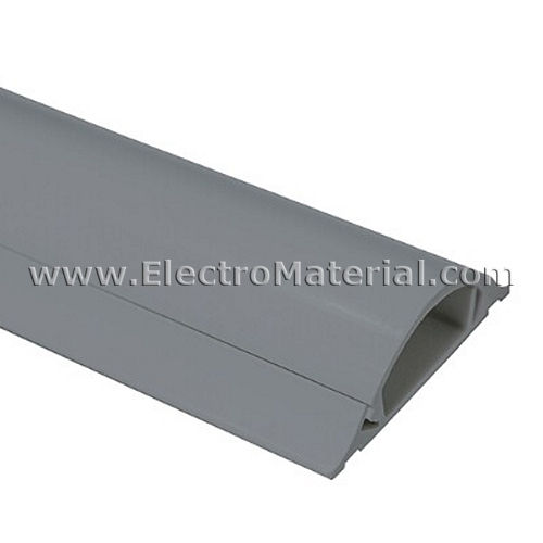 Floor channel of 2 meters long in Gray of 45x14 mm