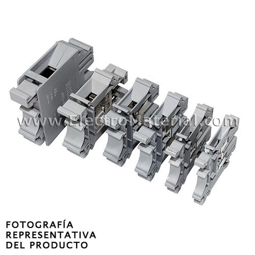 Connection terminal rail Gray 32A from 4 mm