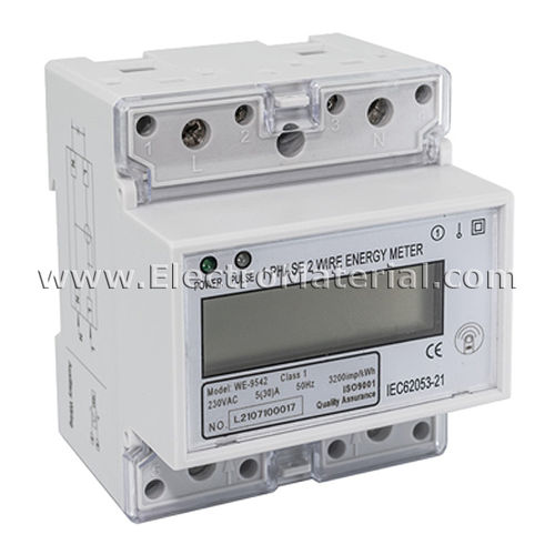 Single-phase energy meter 30A RESET function