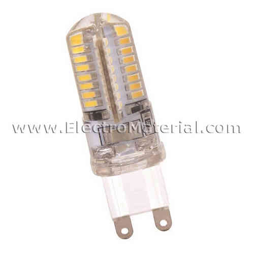 Silicone LED Bipin Lamp G9 220V 3W Warm Light