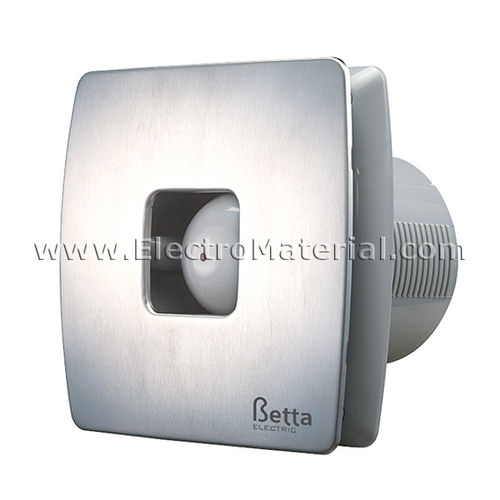 Silver and silent bathroom extractor 33 dB of 15W | Betta BE1065