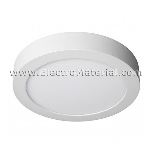 Downlight LED de superficie circular Blanco de 18W Luz cálida 3000K