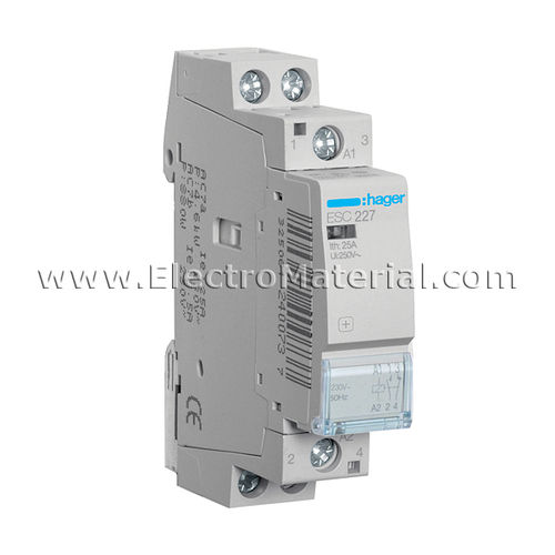 Modular Contactor 1NA+1NC of 25 A | HAGER